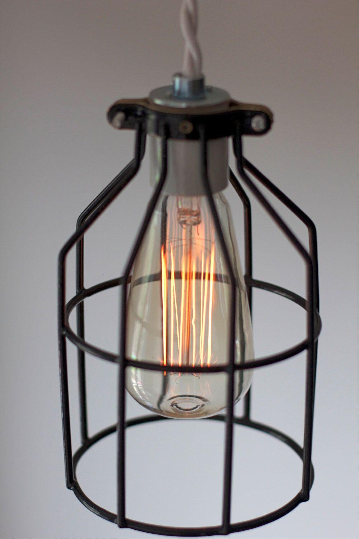 Industrial vintagemodern cage light fixture pendant lighting with