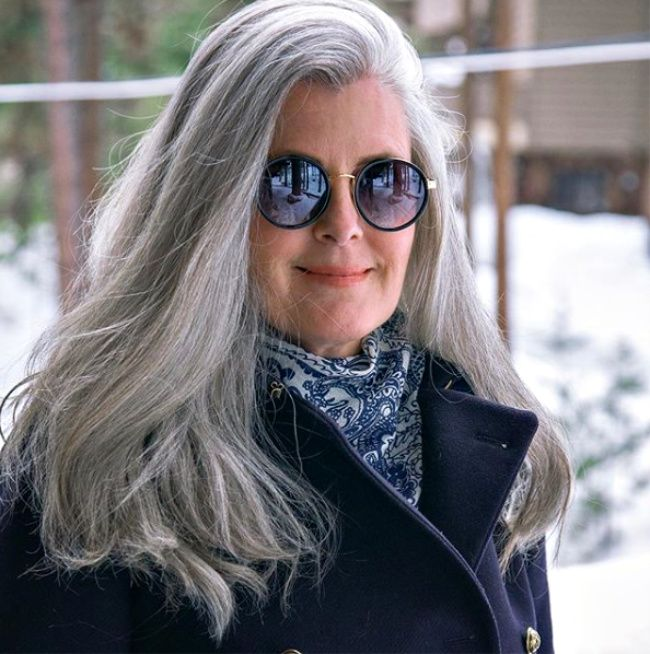 celebrating women with long grey hair 40 plus style 3 ways to wear gray hair over 40 grey hair over 50 long