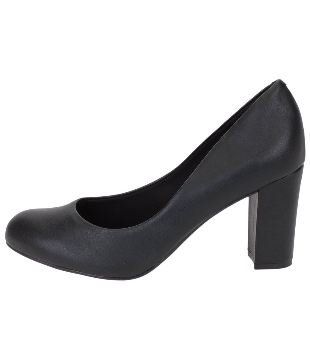 4a1904a1f Scarpin Feminino Vizzano Salto Grosso - Lojas Renner Sapatos Femeninos