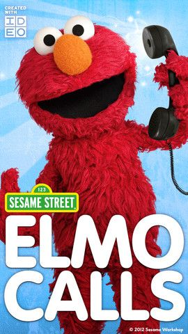 Elmo calls Kids app, Elmo, Sesame street