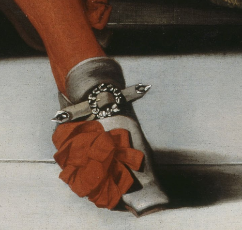 Souvent Shoe detail from a 1670 portrait of Louis XIV. | ART: MEN  NY91