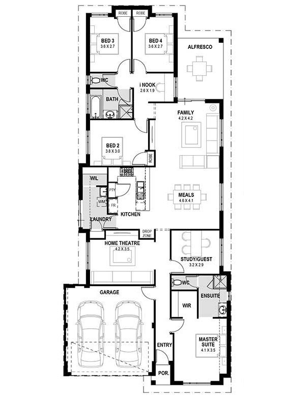 My vienna single storey home designs perth house design plans also rh pinterest