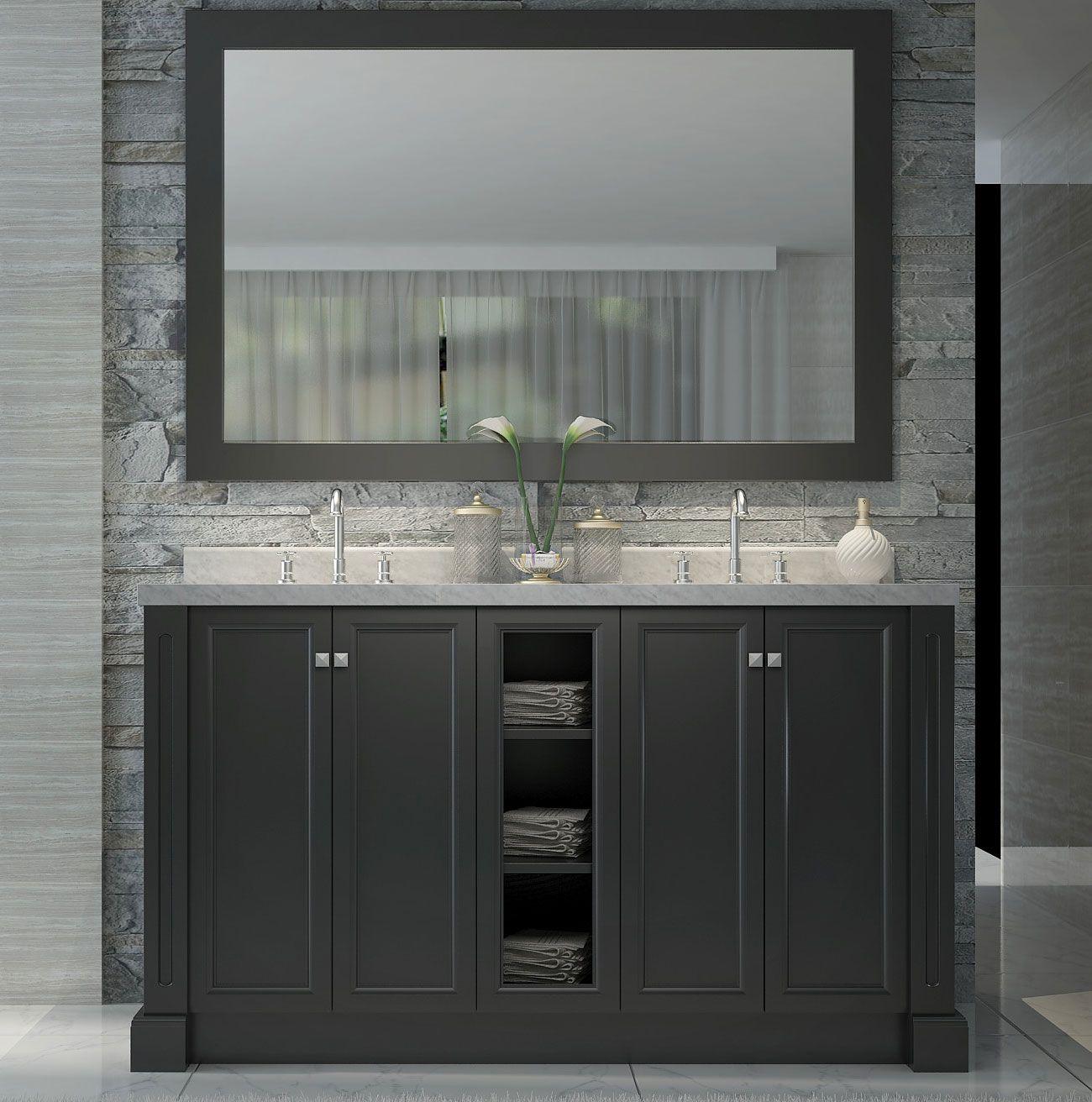 Westwood 60 Inch Double Sink Bath Vanity Black Finish Jpg 1 300 312 Pixels