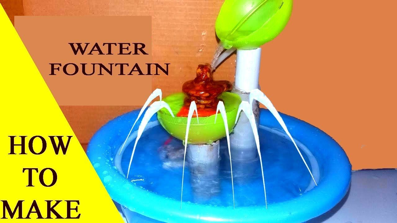 How to make fountain at home youtube diy water