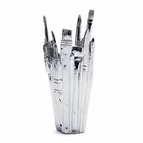 Areaware - Brush Vase Chrome