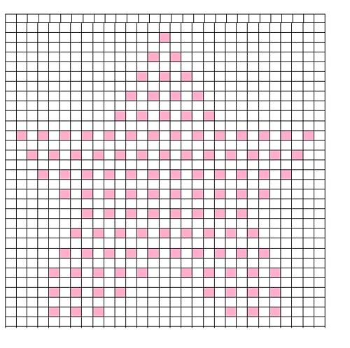 Ravelry: Star bobble chart pattern by Teri Heathcote ~ free pattern