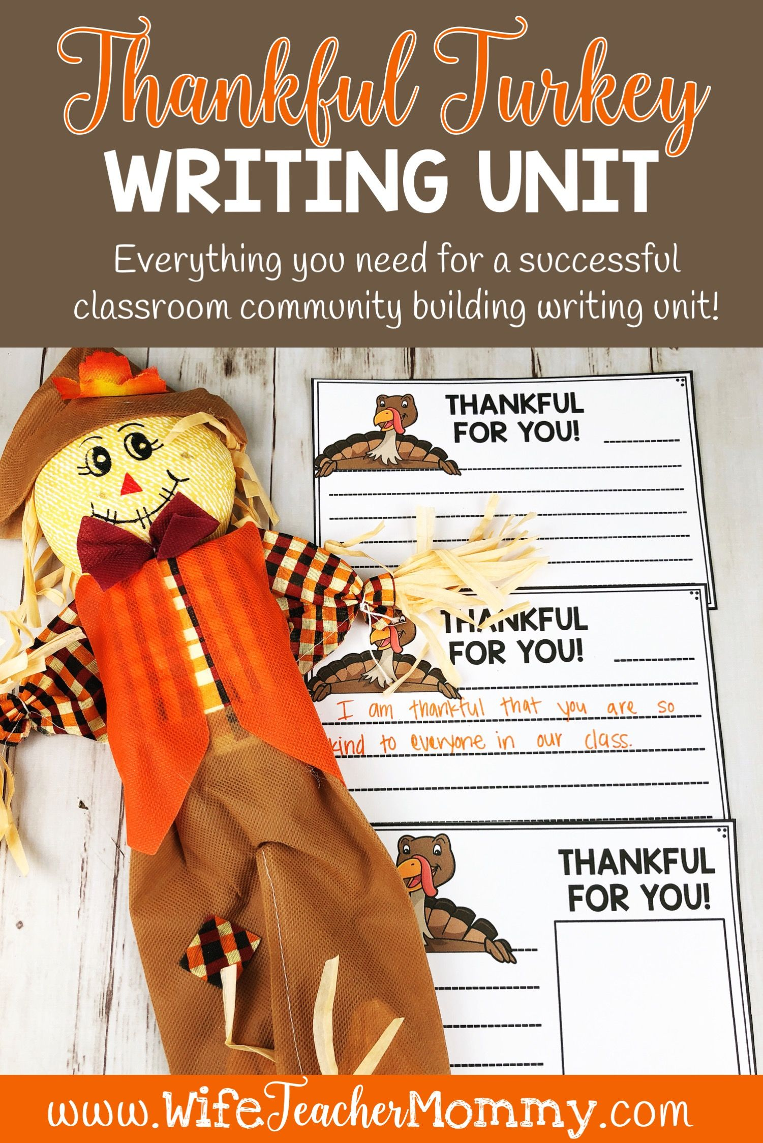 Thanksgiving Thankful Turkeys Writing Unit