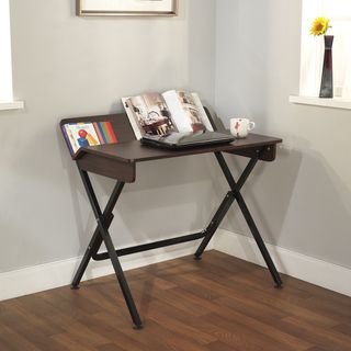 @Overstock - Add this unique design student computer desk in espresso to any area of your bedroom, dorm room or study room. The back shelf is a great accessory to hold books or notebooks. It requires some assembly.http://www.overstock.com/Home-Garden/Computer-Desk-with-Back-Shelf/7440647/product.html?CID=214117 $59.99