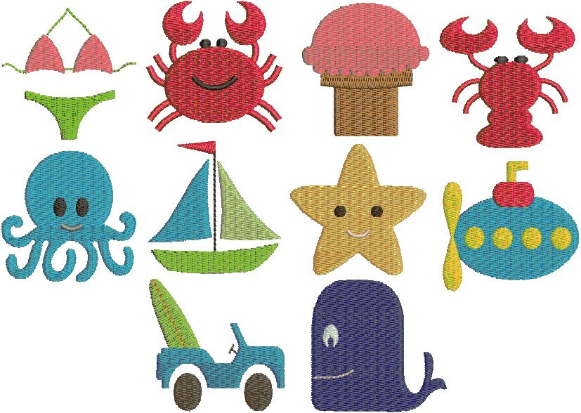 Beach Mini Embroidery Designs Applique Wishlist Pinterest