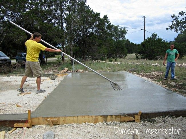 Diy Garage Foundation For The Home Diy Garage Concrete Garages