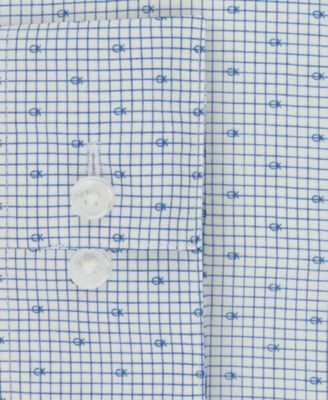 Calvin Klein Men S Steel Slim Fit Non Iron Performance Blue Ck Logo Print Dress Shirt Only At Macy S Blue 16 34 35 Products Calvin Klein Shirt Dress C