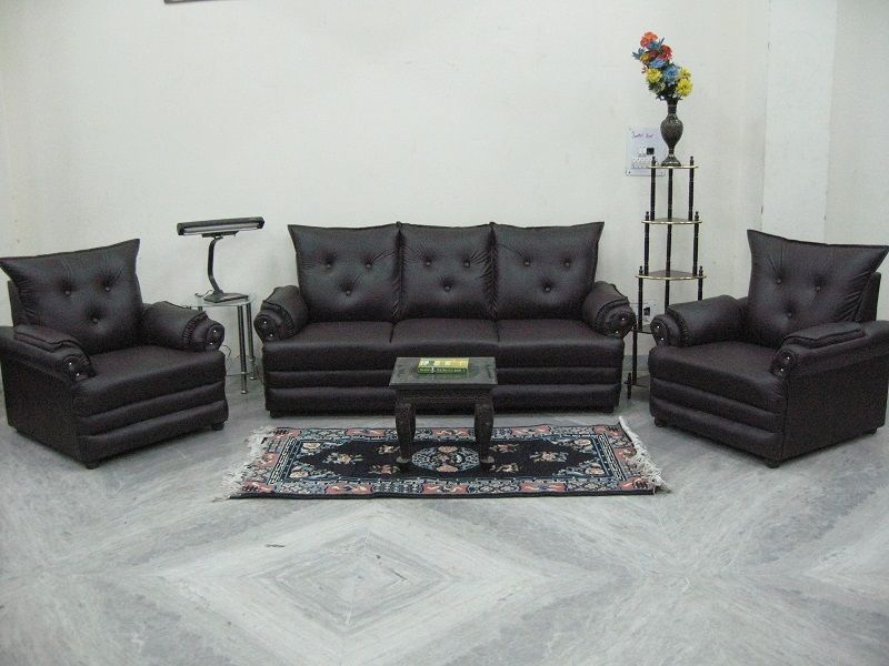 5 Seater Brown Leatherite Sofa Used Furniture For Sale Used Furniture For Sale Second Hand Sofas Used Sofas For Sale