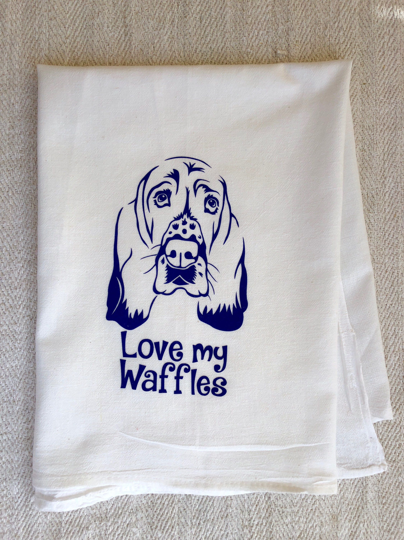 Custom basset hound dog flour sack towel modern farmhouse