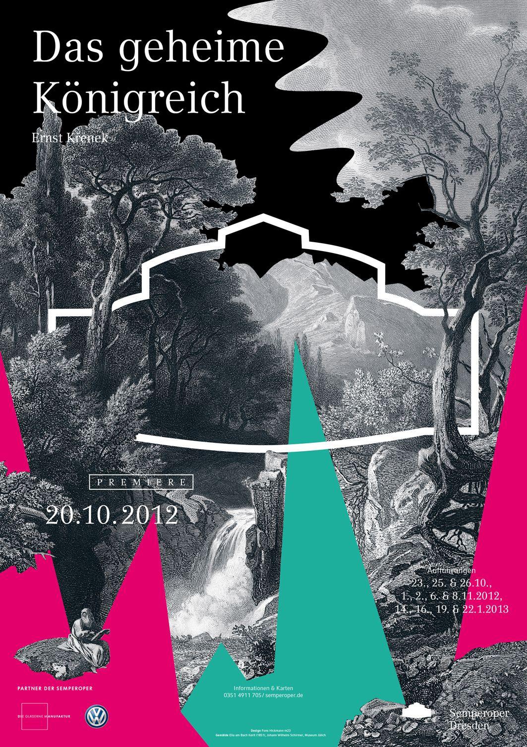 Plakatkampagne Der Semperoper Dresden Graphic Poster Graphic Design Posters Typography Poster