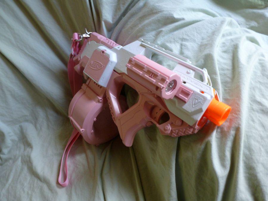 HvZ Custom Pink NERF Rayven by ~MarcWF