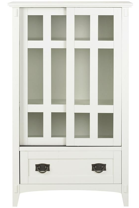 Luxury Media Cabinet with Glass Doors