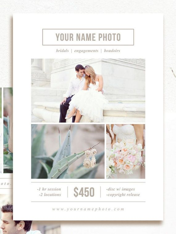 instant download  photography flyer design