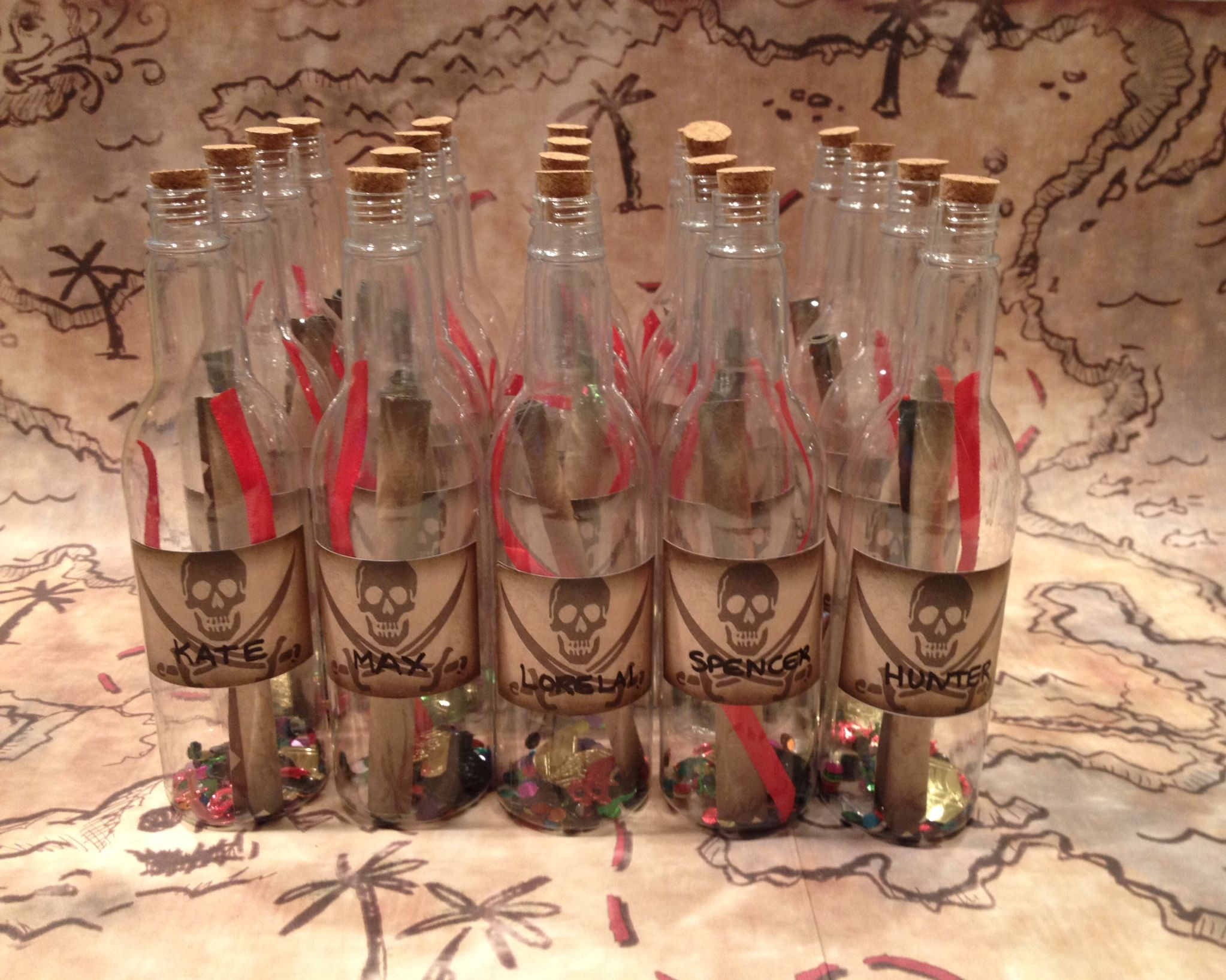 KIDS PIRATE PARTY INVITATIONS (message in a bottle) Plastic bottles ...