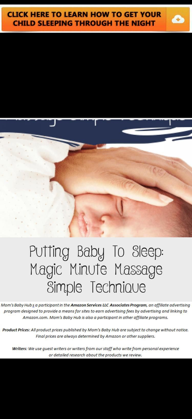 Put the baby to sleep: Magic Minute Massage Simple technique - fitness for health and diet, #baby #B...