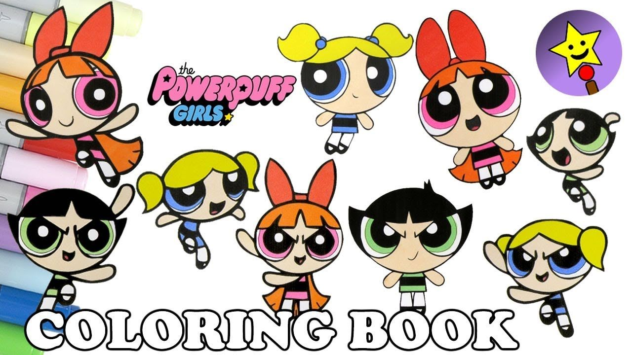 Powerpuff Girls Coloring Book Compilation 10 featuring Bubbles ...
