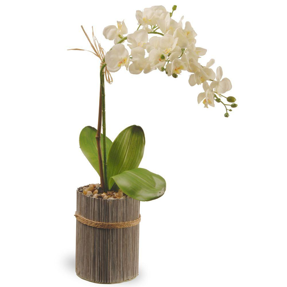 National Tree Company 20 In Garden Accents Potted Orchid Gapf30 20w Orchid Plants Artificial Orchids Repotting Orchids