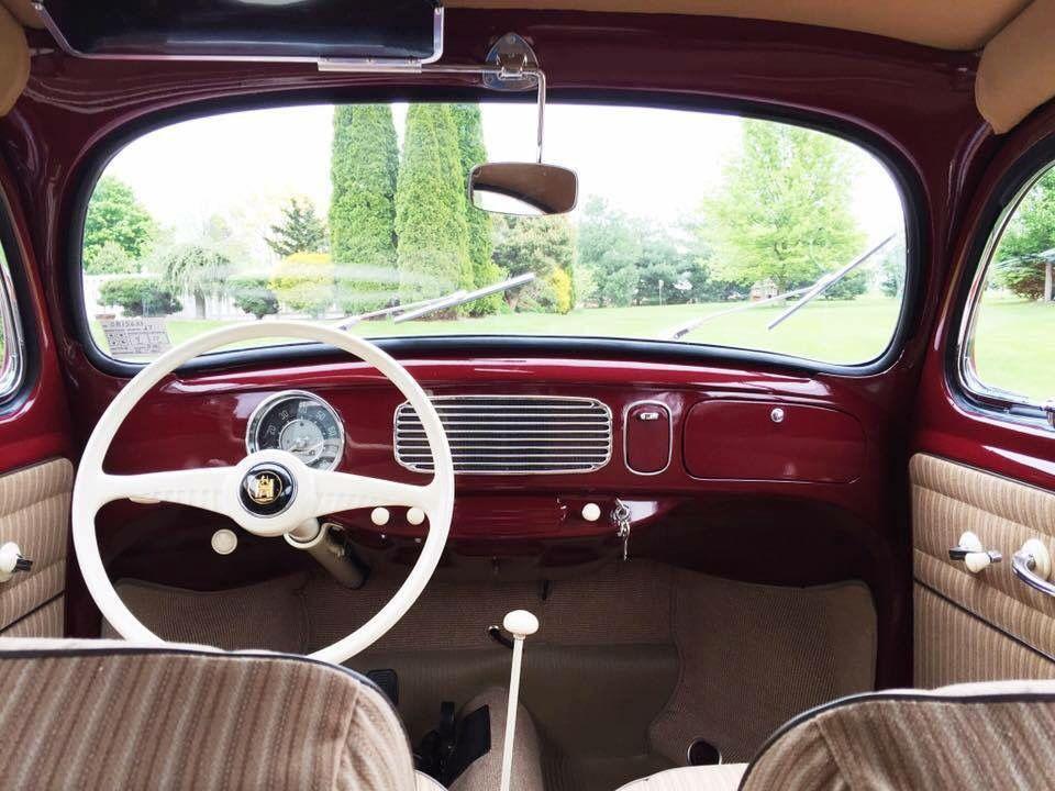 1955 VW Beetle oval window interior