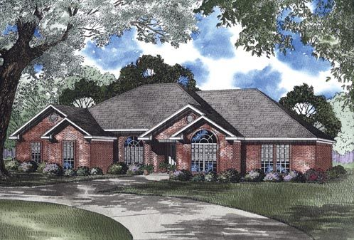 e Story Style House Plan with 4 Bed 3 Bath 2 Car Garage