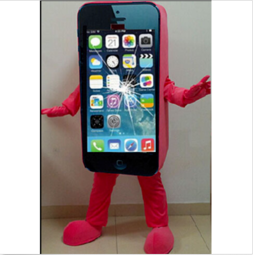 Advertising Cell Phone iPhone Adult Mascot Costumes Fancy Dress Cosplay Suit Set