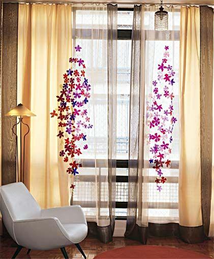No ver o troque as cortinas grossas e pesadas por tecidos for Cortinas transparentes