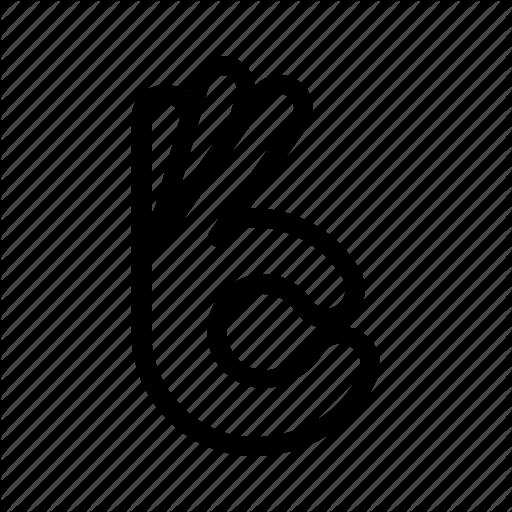Alritght Finger Gesture Good Hand Ok Ok Hand Icon Download On Iconfinder Hands Icon Ok Logo Hand Logo