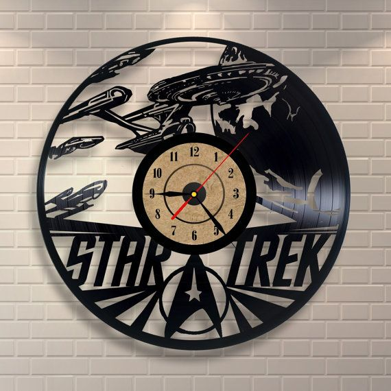 Star Trek Gift Vinyl Wall Record Clock Star Trek Gifts Wall Clock Classic Classic Clocks