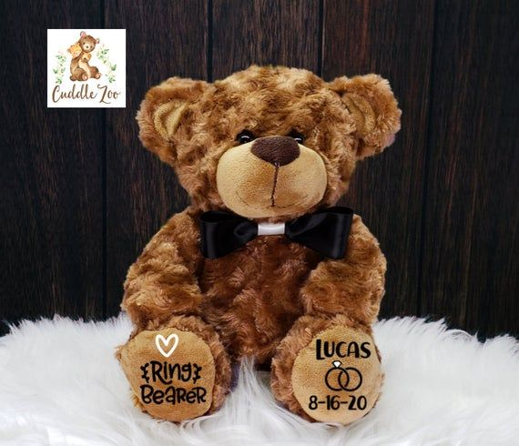 Ring Bearer Gift, Ring Bearer Proposal, Flower Girl Bear
