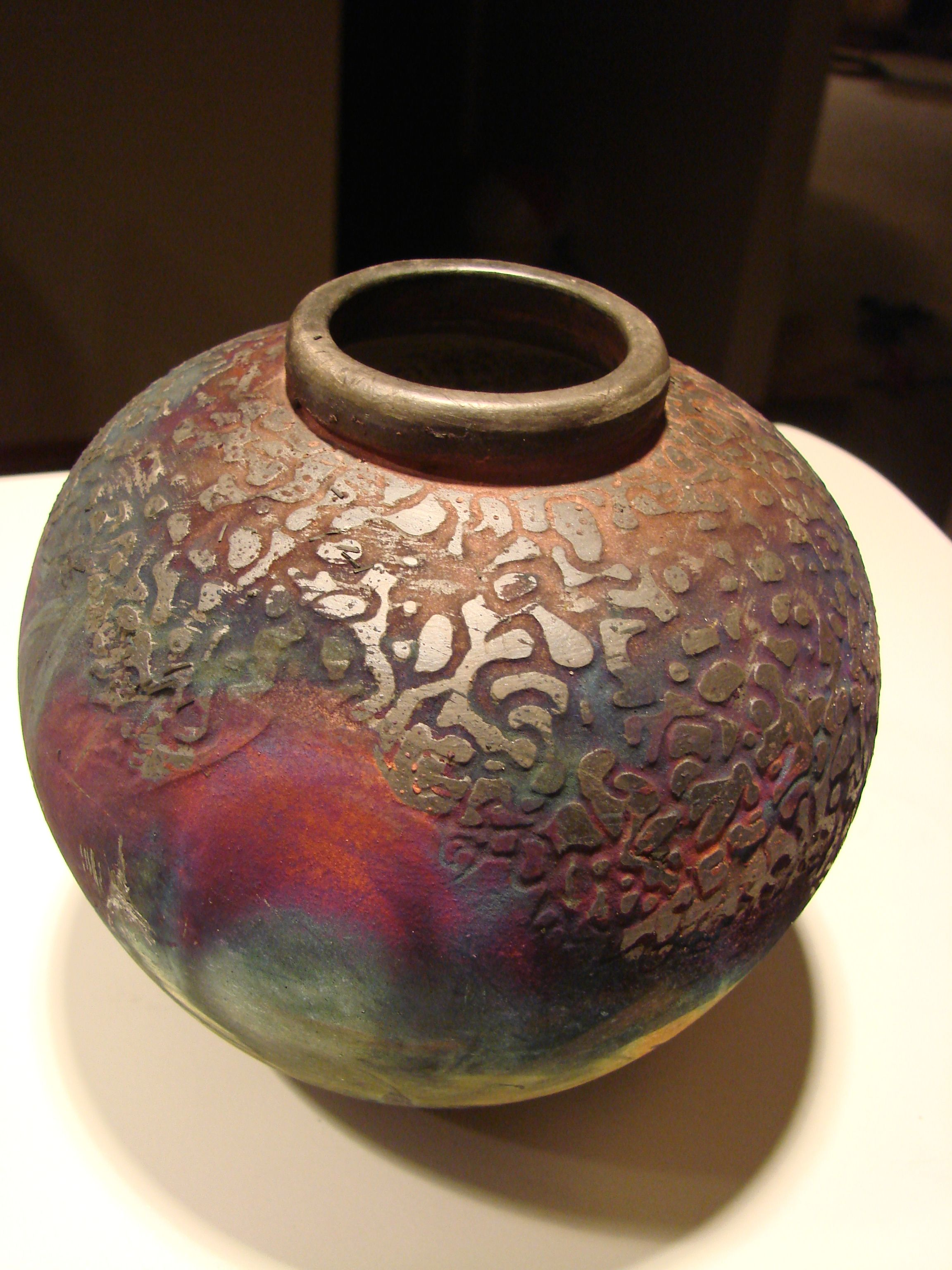 Unique Flower Vases Come See Joe Clark 39s Unique Textured Raku Pottery In Our