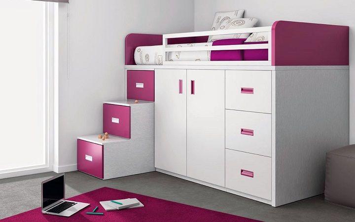 Ahorrar espacio con camas altas Funcional Pinterest Camas