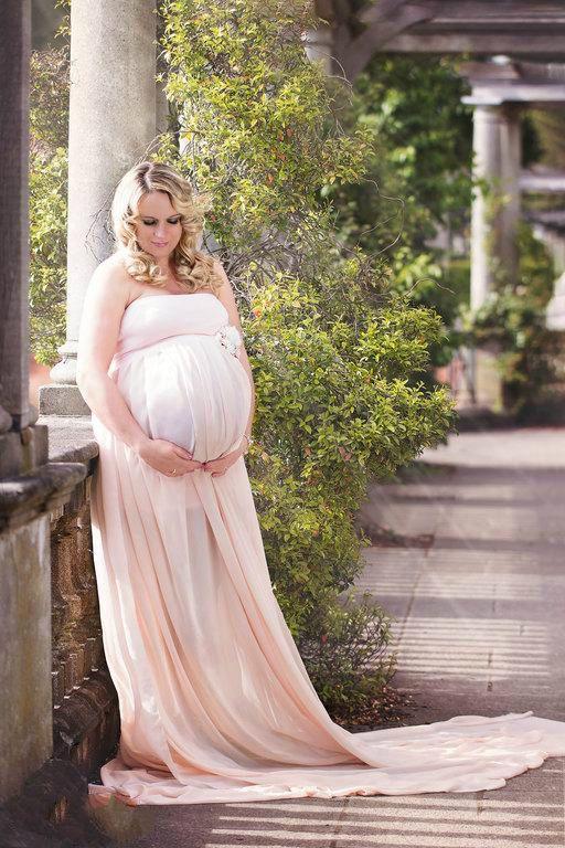 Günstig Rosa Brautjungfernkleider Für schwangere Chiffon ...