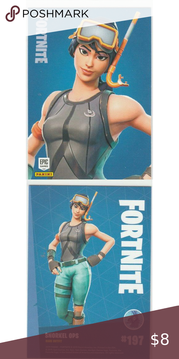 Fortnite Snorkel Ops 197 Rare Outfit Panini 2019 Team Bags Outfits Fortnite