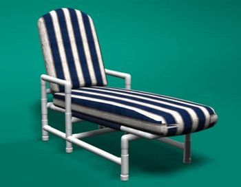 pvc lounge chair modern chairs ikea classic chaise patio furniture pinterest