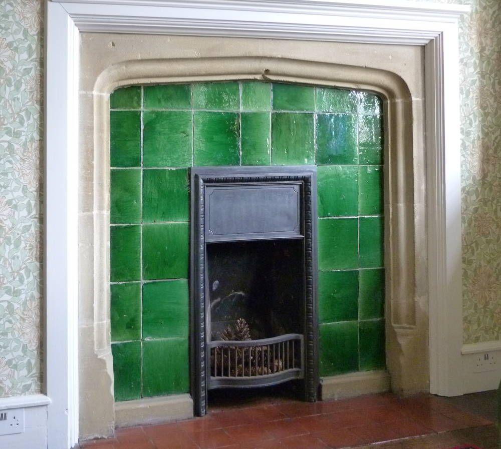 Garrard Plain Glazed Tiles In A Fireplace Mount Grace Priory Northallerton