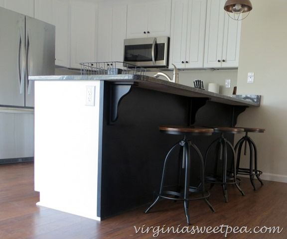 I am thrilled with the industrial look bar stools that I recently added to our home.  The price was budget friendly, too!  virginiasweetpea.com