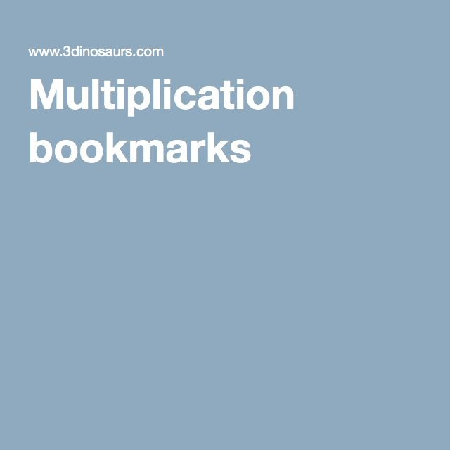 Multiplication bookmarks
