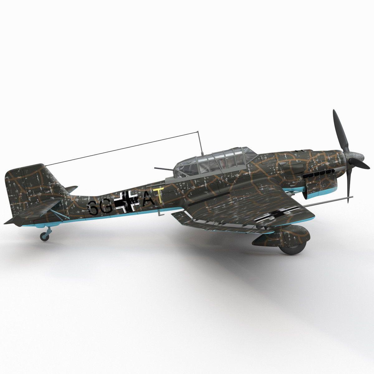 German WWII Dive Bomber Junkers Ju 87