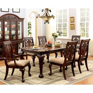 Furniture Of America Ranfort Formal 7 Piece Cherry Dining Set Ping The Best Deals On Sets
