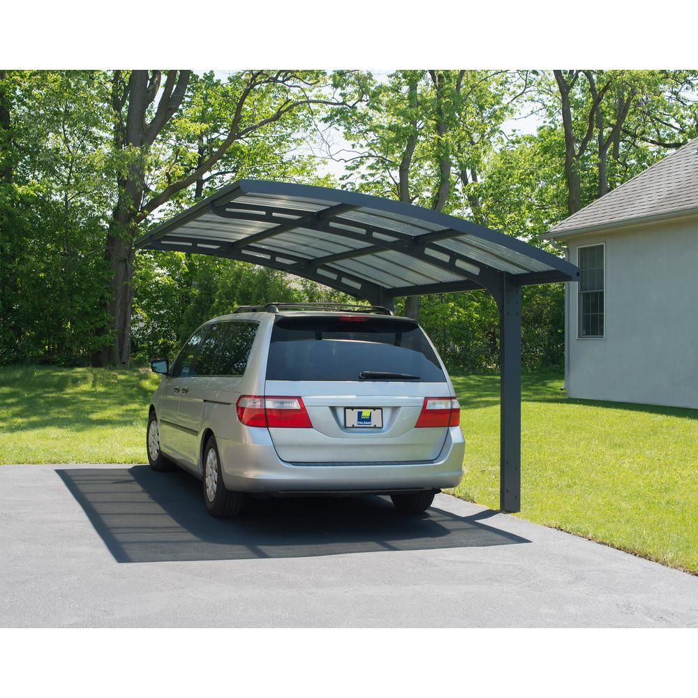 Palram Arizona 5000 Wave 9 Ft 6 In X 16 Ft 3 In X 9 Ft H Carport With Corrugated Polycarbonate Roof Th Carport Designs Modern Carport Cantilever Carport