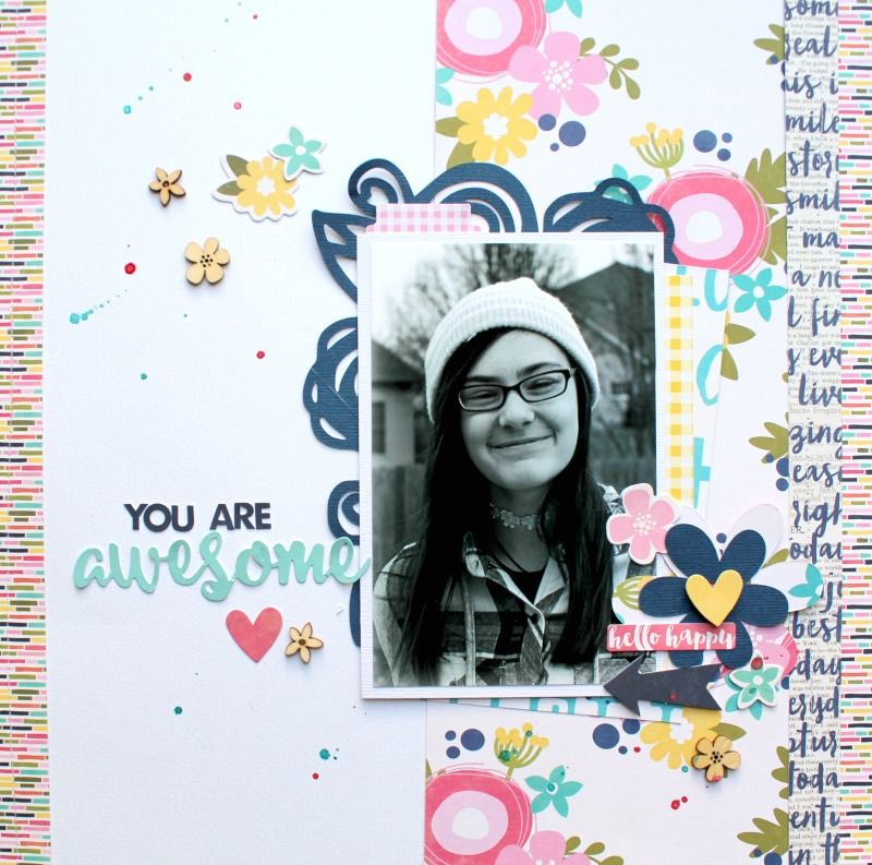 Youareawesome Scrapbook Scrapbook Layouts Pinterest