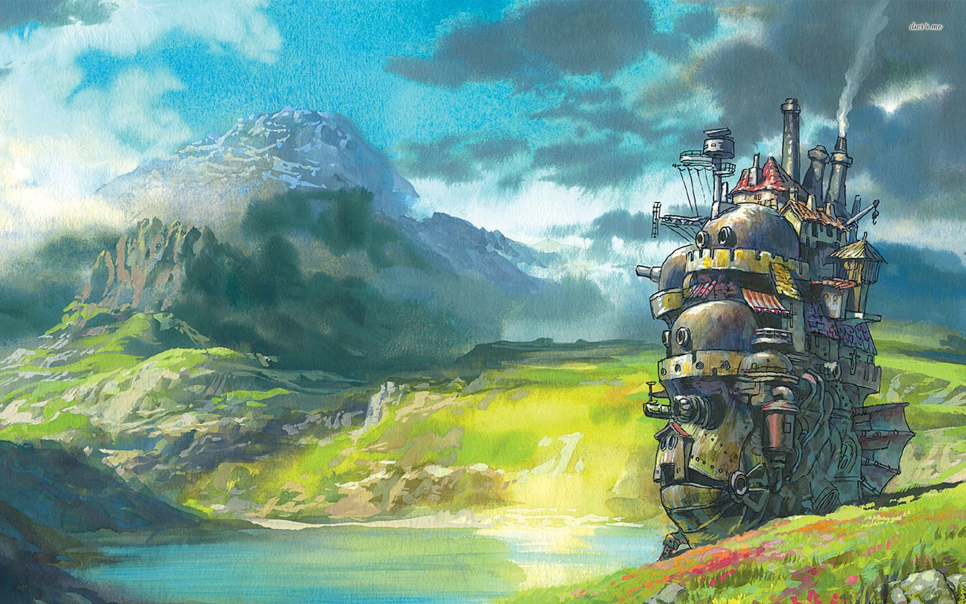 14668 howls moving castle 1920x1200 anime wallpaperg 19201200 howls moving castle anime hd desktop wallpaper anime no voltagebd