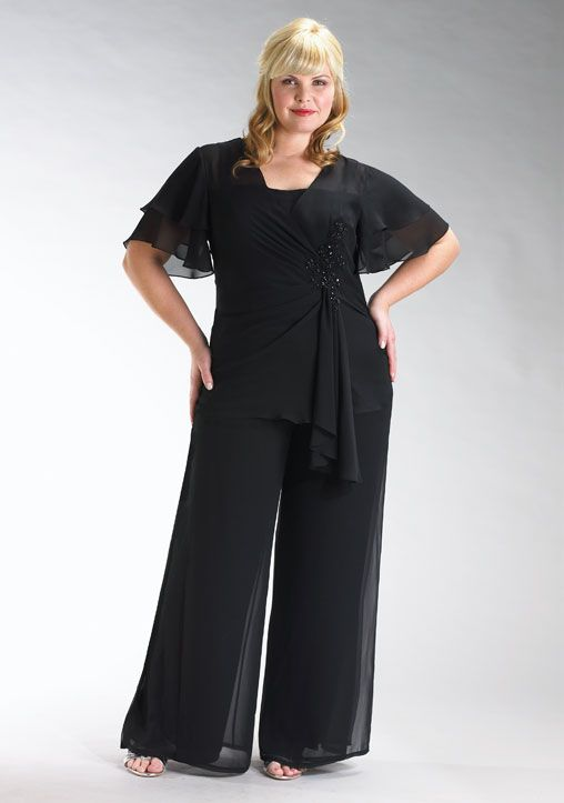 Plus Size Women S Clothing Cocktail Pant Suits In Plus Size