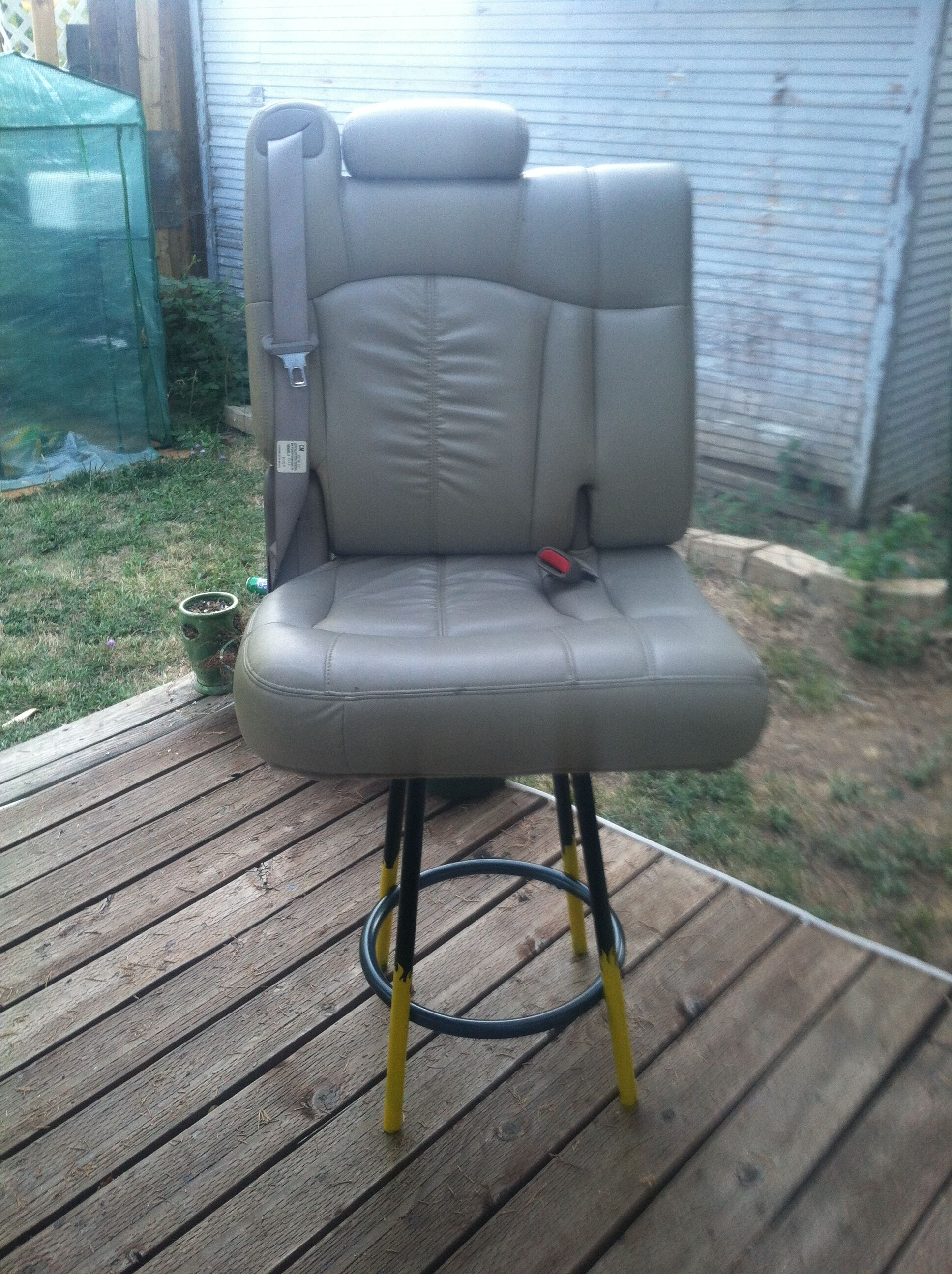 Car seat stool or custom shop stool Shop stool, Outdoor