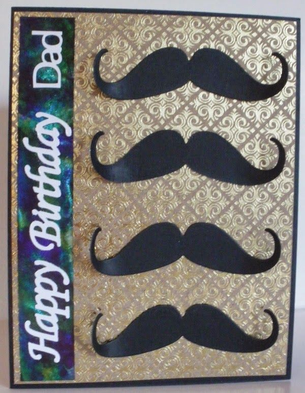Made for Paper - Designs by Lis: Moustache Birthday Card
