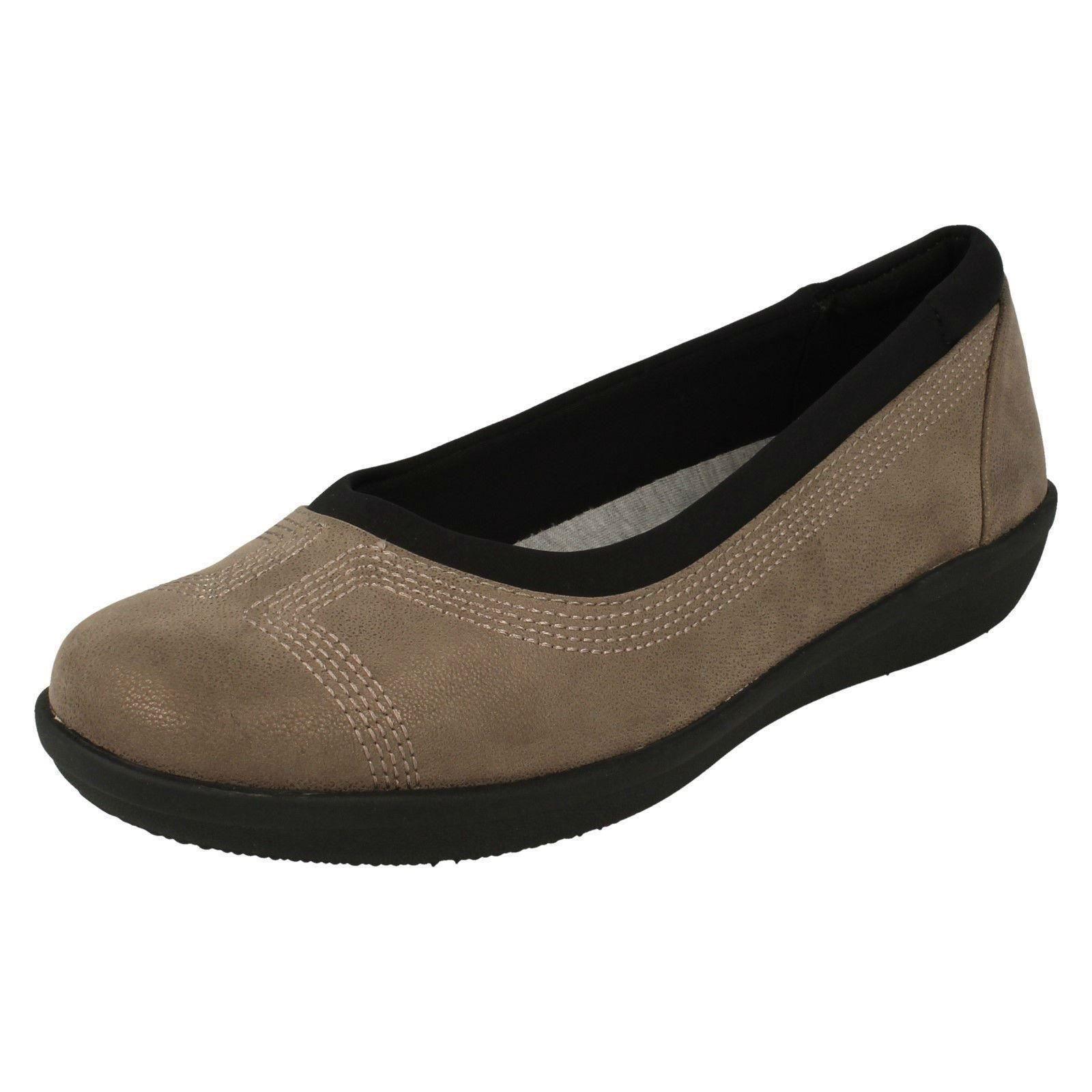 1c65df42 Women clarks flat walking cloud textile round toe shoes - 'ayla' low ...