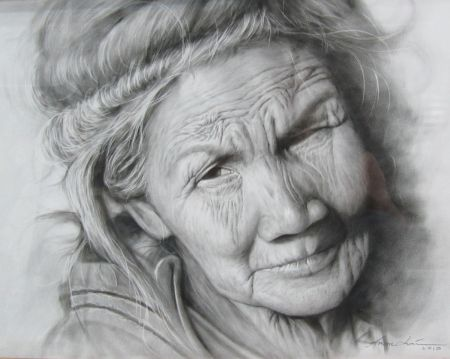 Drawing Old People With Images Drawing People Woman Drawing